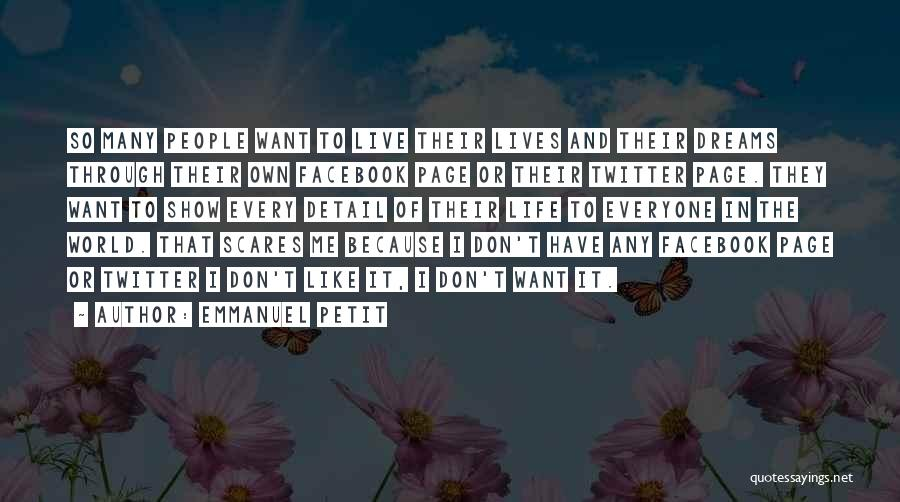 In Life Facebook Quotes By Emmanuel Petit