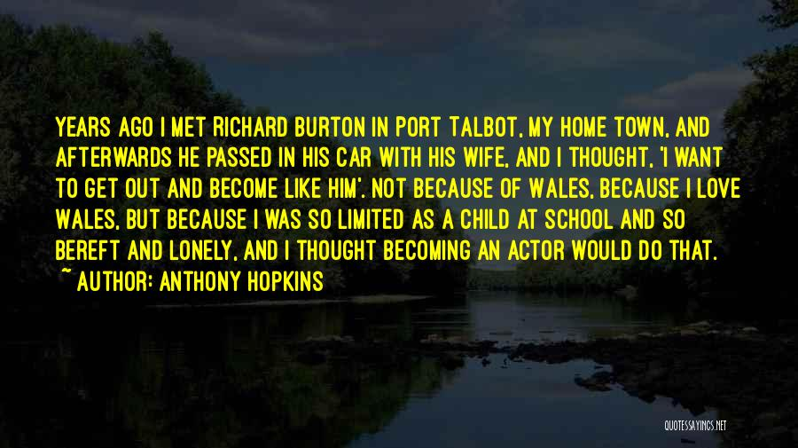 In Love With Someone You Just Met Quotes By Anthony Hopkins