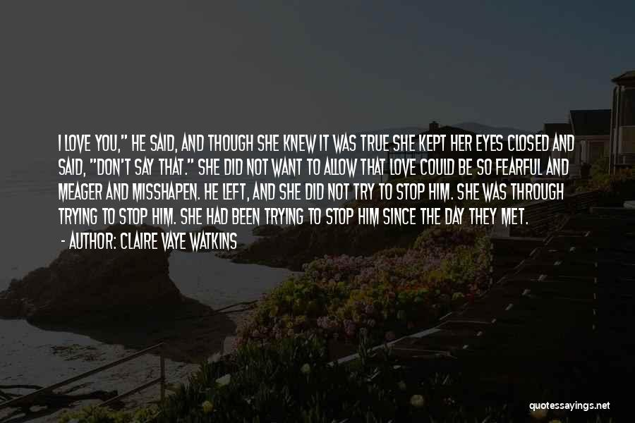 In Love With Someone You Just Met Quotes By Claire Vaye Watkins