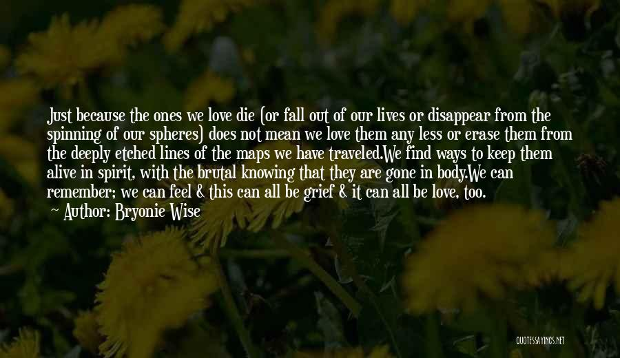 In Memory Of Our Loved Ones Quotes By Bryonie Wise