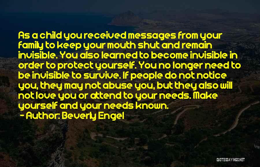 In Order To Survive Quotes By Beverly Engel
