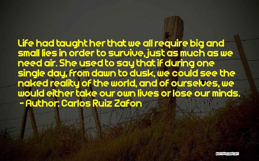 In Order To Survive Quotes By Carlos Ruiz Zafon