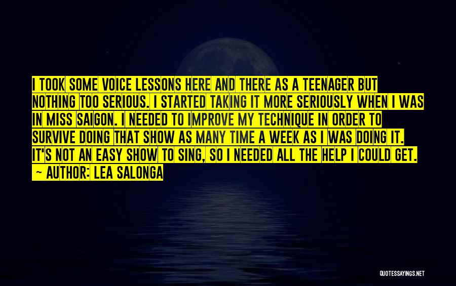 In Order To Survive Quotes By Lea Salonga