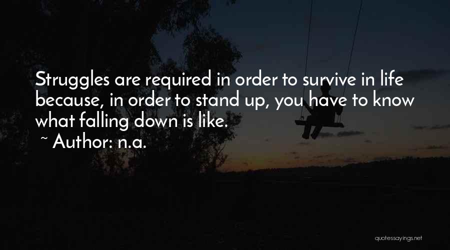 In Order To Survive Quotes By N.a.