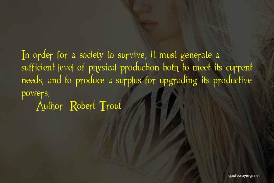In Order To Survive Quotes By Robert Trout
