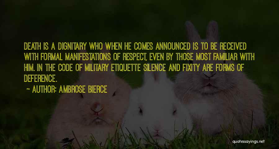 In Silence Quotes By Ambrose Bierce