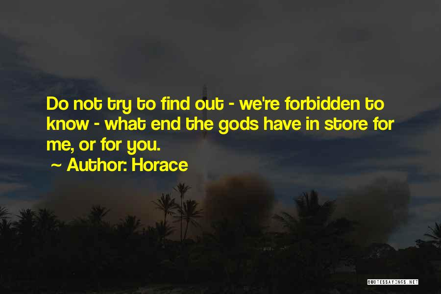 In The End You Find Out Quotes By Horace