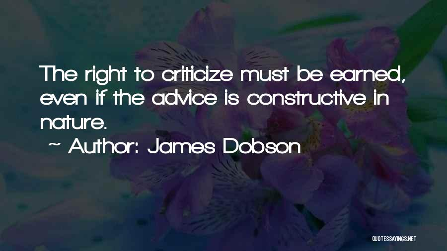 In The Nature Quotes By James Dobson