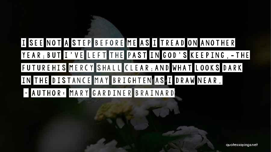 In The Past Quotes By Mary Gardiner Brainard