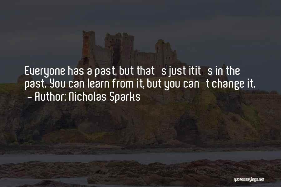 In The Past Quotes By Nicholas Sparks
