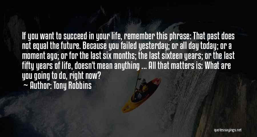 In The Past Quotes By Tony Robbins