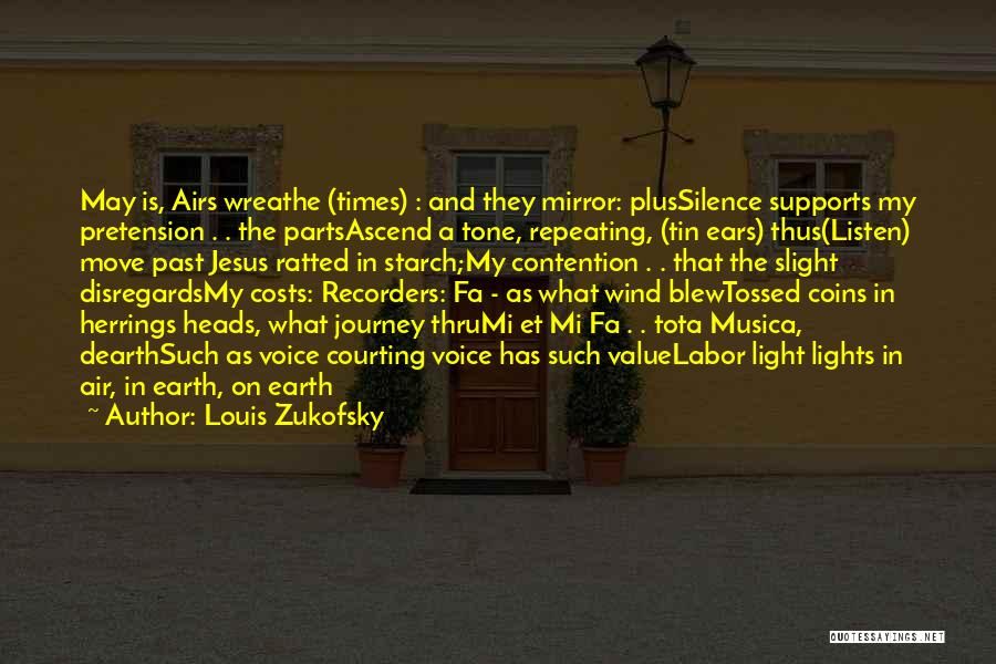 In The Silence Quotes By Louis Zukofsky