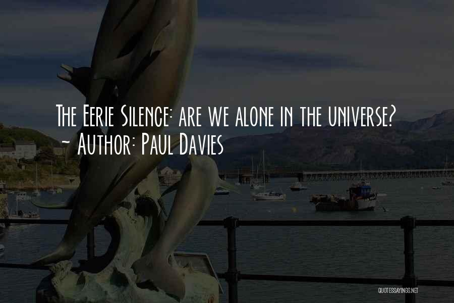 In The Silence Quotes By Paul Davies