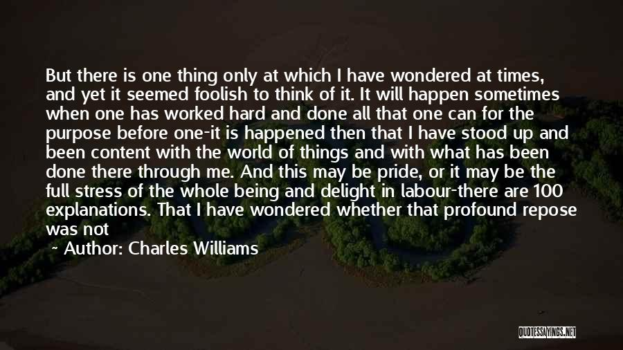 In Times Of Stress Quotes By Charles Williams