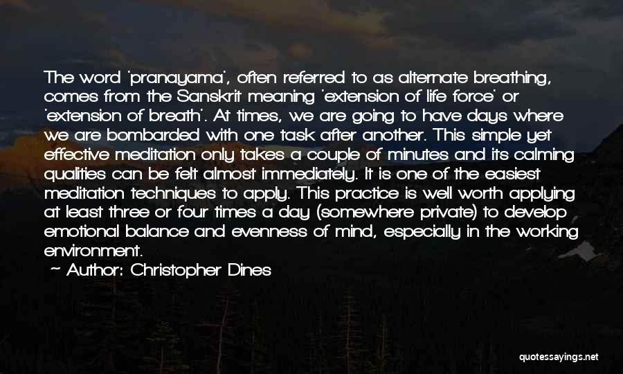 In Times Of Stress Quotes By Christopher Dines