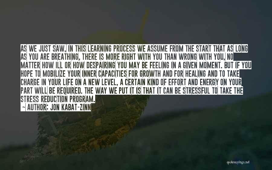 In Times Of Stress Quotes By Jon Kabat-Zinn