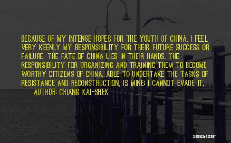 In Training Quotes By Chiang Kai-shek
