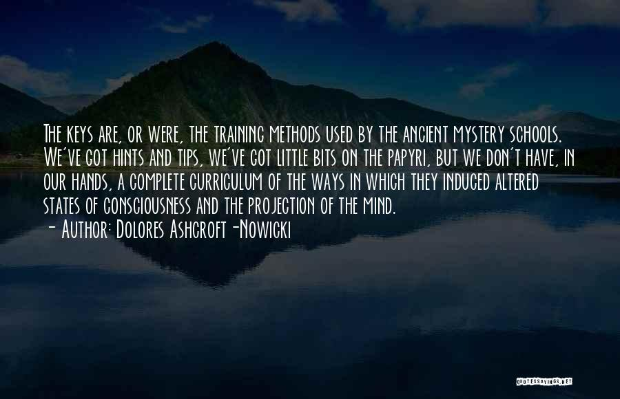 In Training Quotes By Dolores Ashcroft-Nowicki