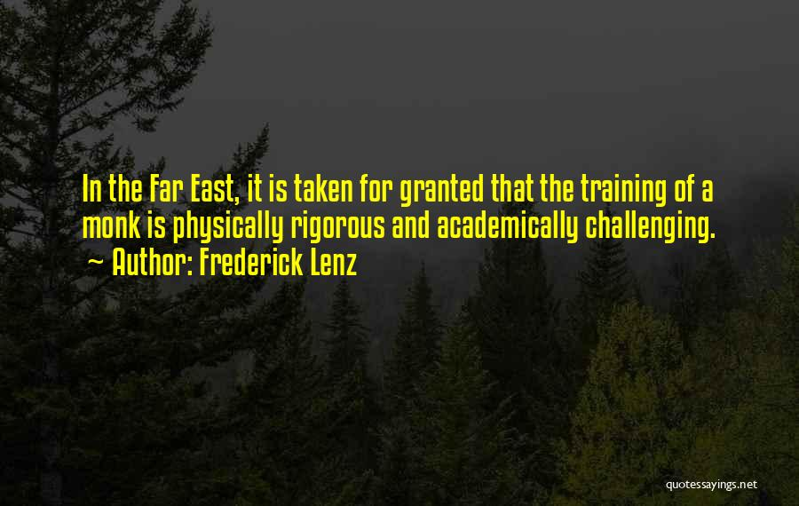 In Training Quotes By Frederick Lenz