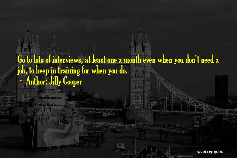 In Training Quotes By Jilly Cooper
