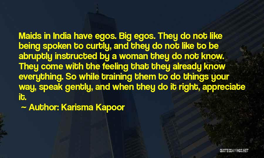 In Training Quotes By Karisma Kapoor