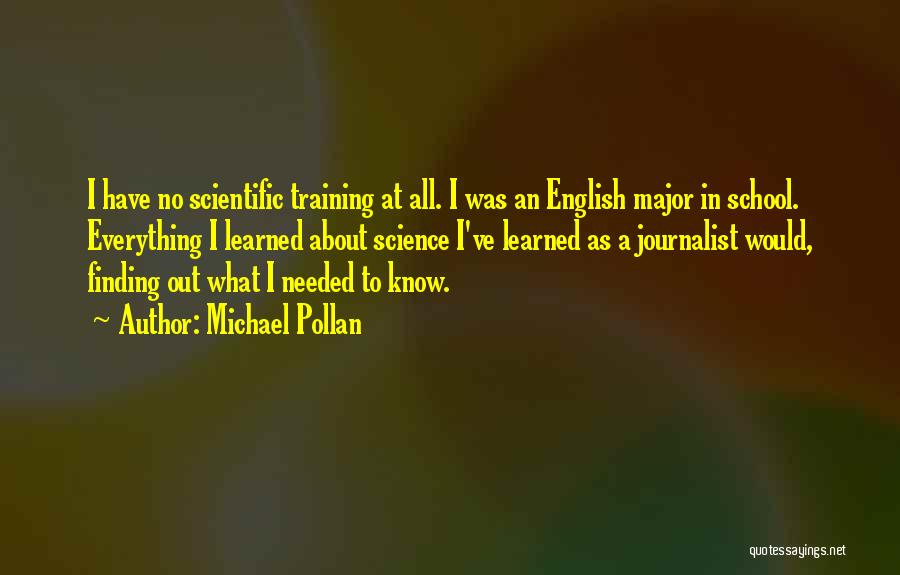 In Training Quotes By Michael Pollan