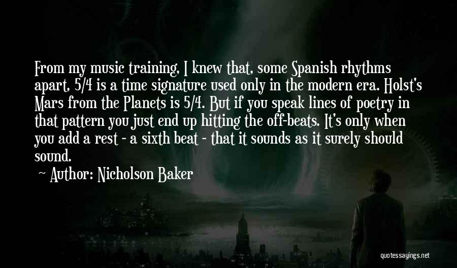 In Training Quotes By Nicholson Baker