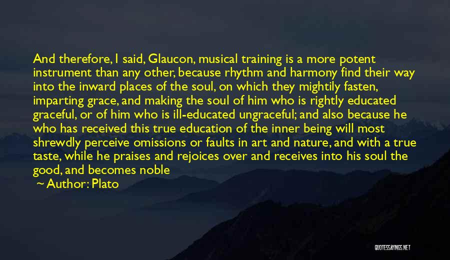In Training Quotes By Plato