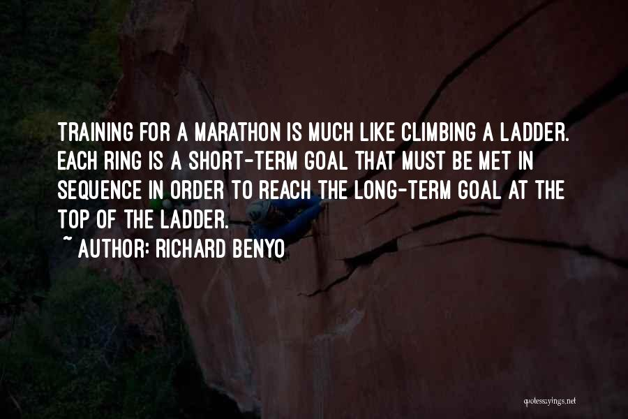 In Training Quotes By Richard Benyo