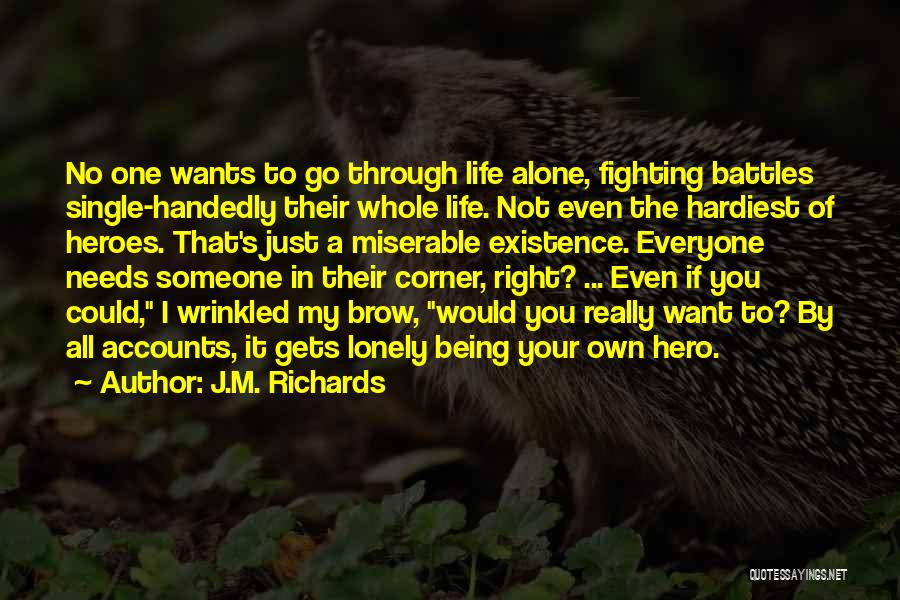 In Your Corner Quotes By J.M. Richards