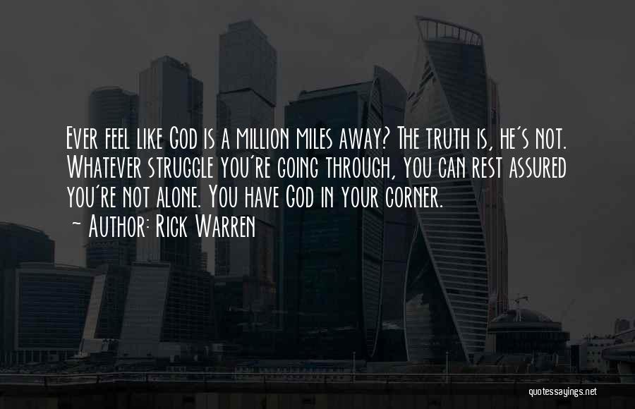 In Your Corner Quotes By Rick Warren