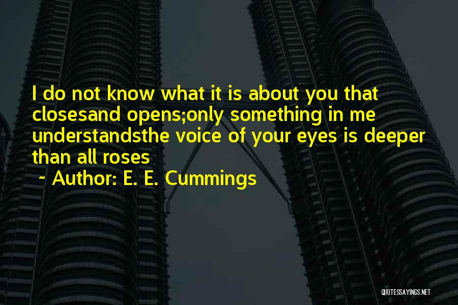 In Your Eyes Love Quotes By E. E. Cummings
