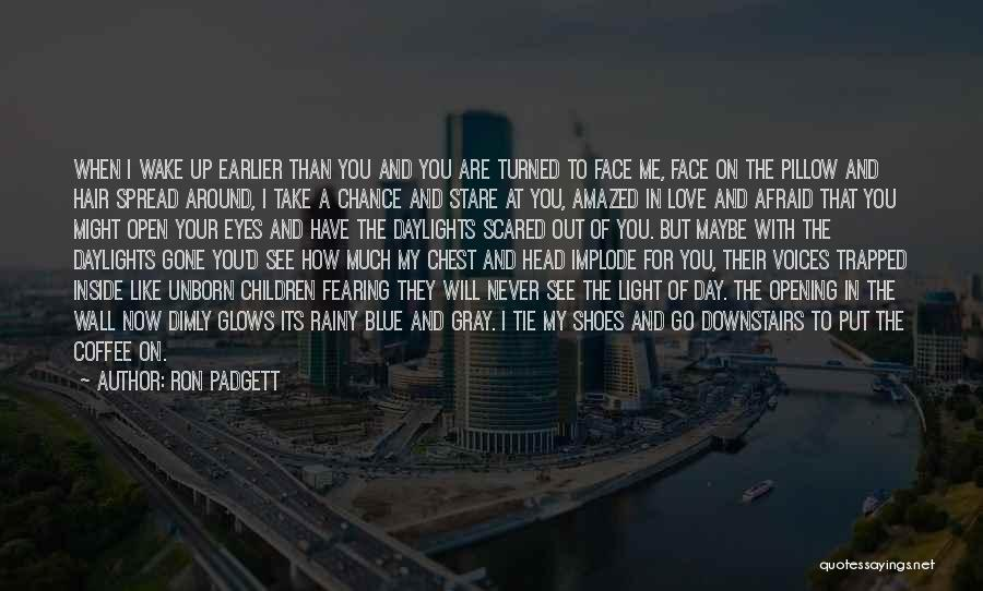 In Your Eyes Love Quotes By Ron Padgett