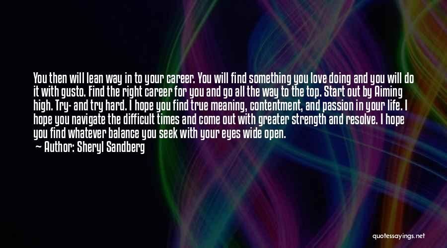 In Your Eyes Love Quotes By Sheryl Sandberg