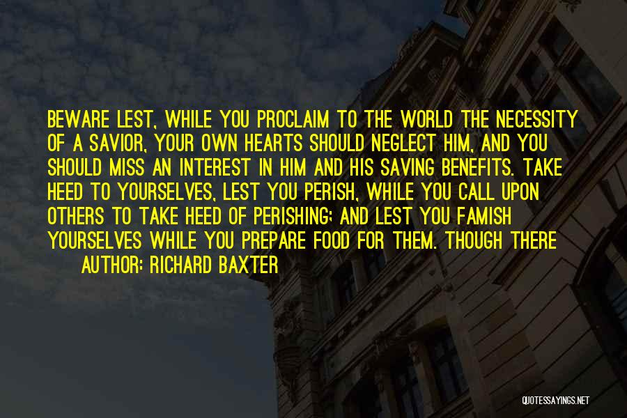 In Your Own World Quotes By Richard Baxter