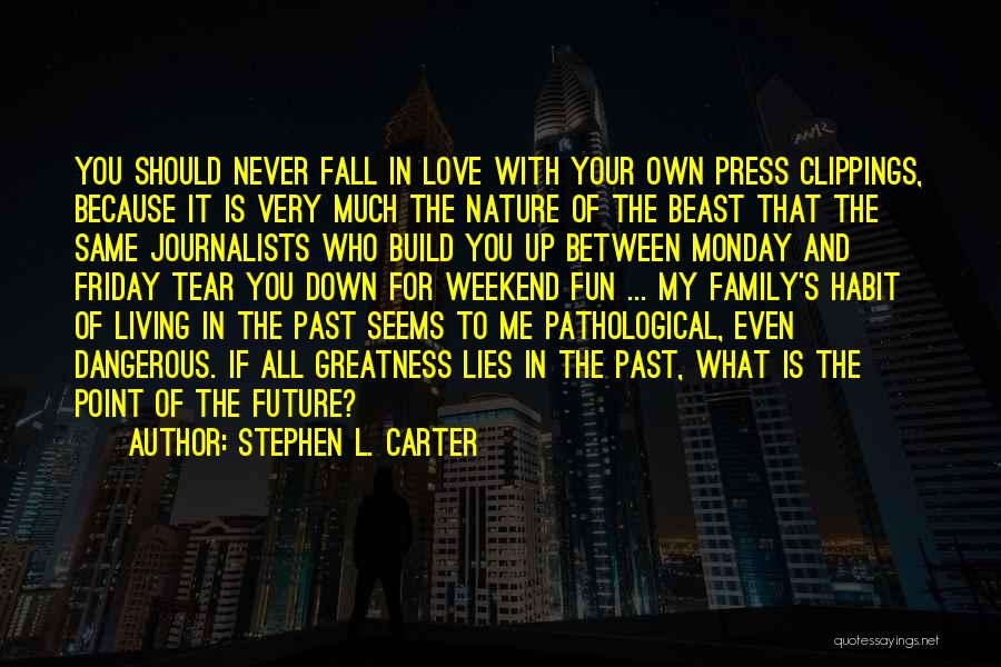In Your Past Quotes By Stephen L. Carter