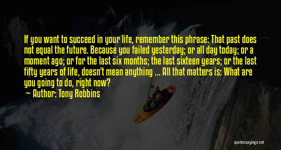 In Your Past Quotes By Tony Robbins