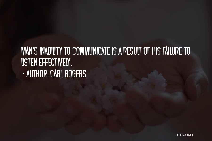 Inability To Communicate Quotes By Carl Rogers