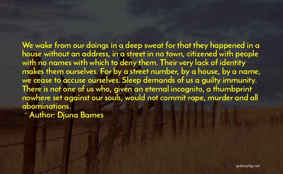 Incognito Quotes By Djuna Barnes