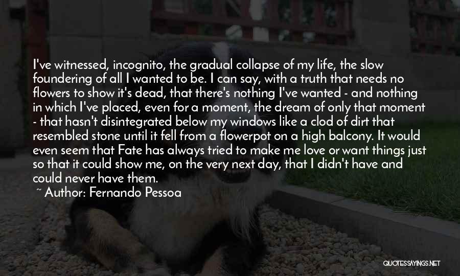 Incognito Quotes By Fernando Pessoa