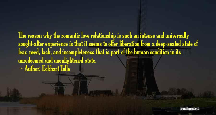 Incompleteness Love Quotes By Eckhart Tolle