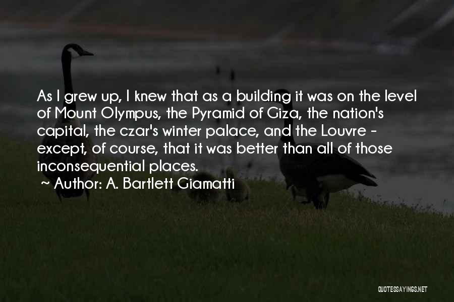 Inconsequential Quotes By A. Bartlett Giamatti