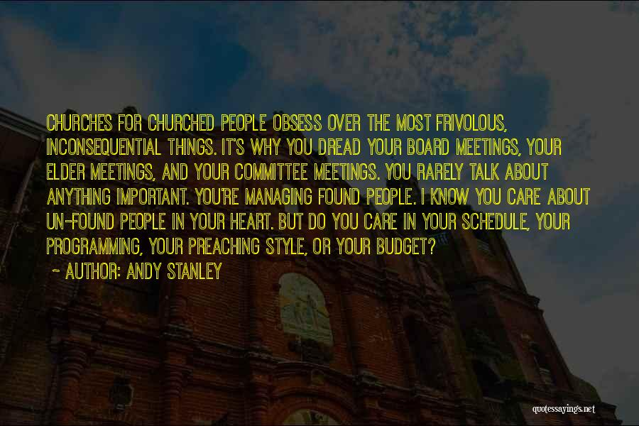 Inconsequential Quotes By Andy Stanley