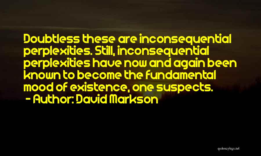 Inconsequential Quotes By David Markson
