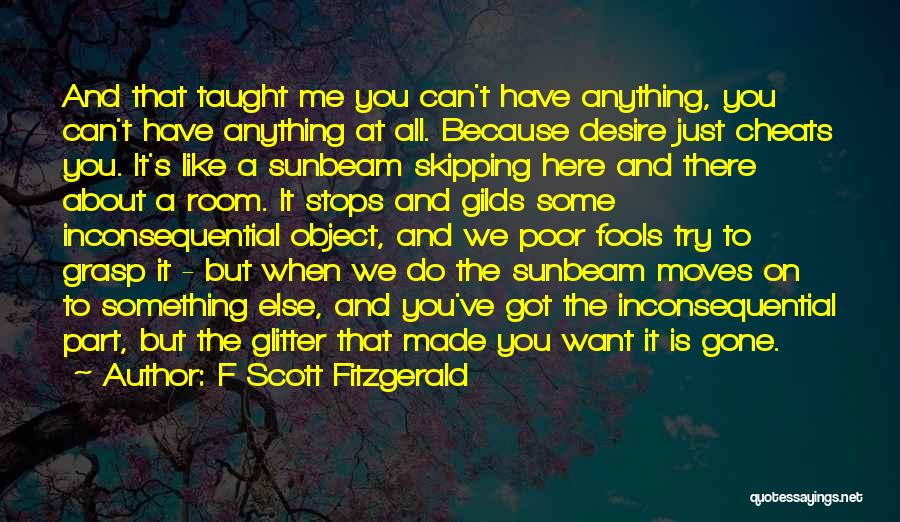 Inconsequential Quotes By F Scott Fitzgerald