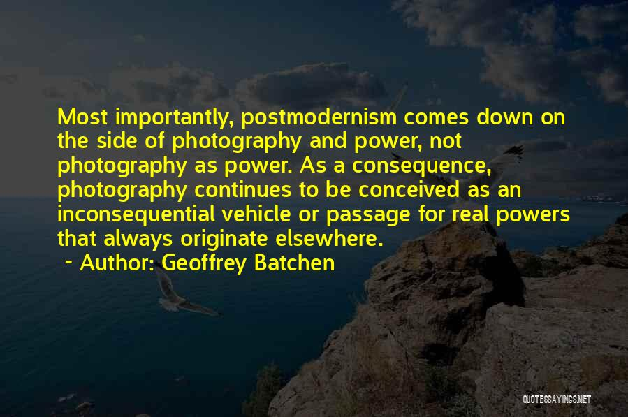 Inconsequential Quotes By Geoffrey Batchen