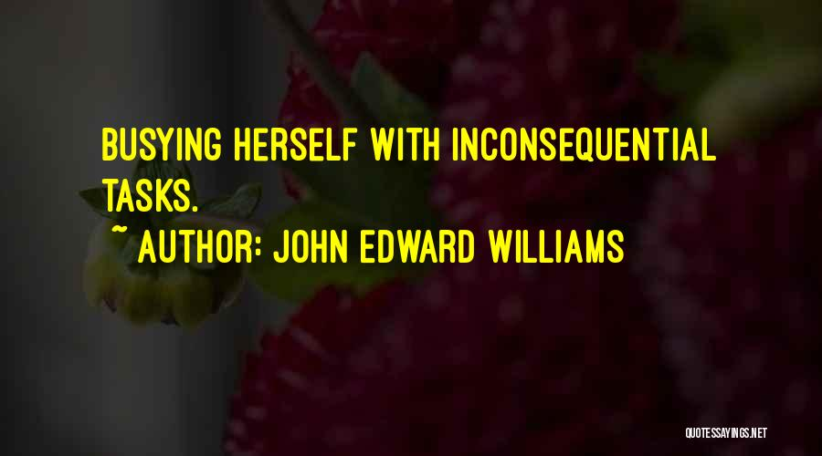 Inconsequential Quotes By John Edward Williams