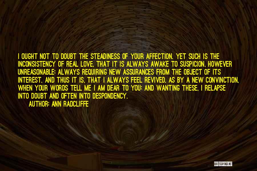 Inconsistency In Love Quotes By Ann Radcliffe