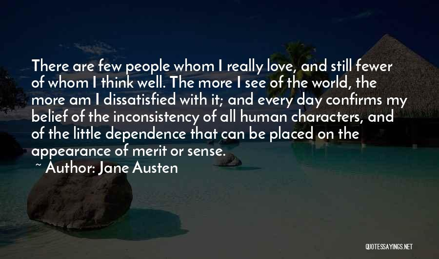 Inconsistency In Love Quotes By Jane Austen