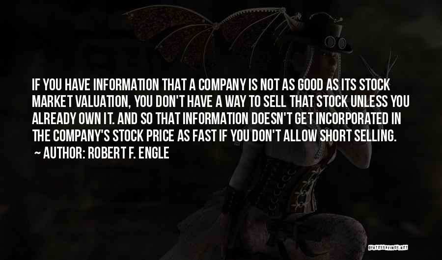 Incorporated Quotes By Robert F. Engle